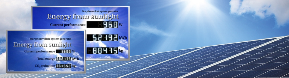 Siebert digital displays for the photovoltaics