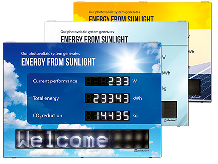 Siebert digital displays for the photovoltaics_XC490